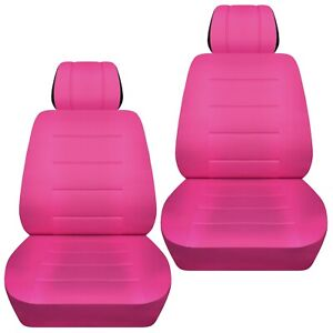 Front Set Car Seat Covers Fits 2010 2020 Kia Soul Solid Hot Pink