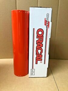 Oracal 651 1 Roll 15 X 10yd 30ft Orange Red 047 Gloss Sign Vinyl