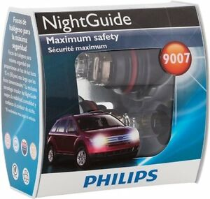Philips 9007 Night Guide Tri Color Beam Pack Of 2 Lamps Part 9007ng S2