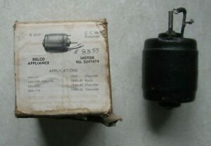 Nos Gm 6 Volt Motor 5047474 1940 1942 Chevrolet Buick For Underseat Heater