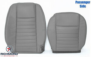 2005 2009 Ford Mustang V8 Gt Passenger Side Complete Leather Seat Covers Gray