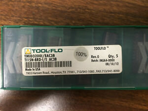 5 Pcs Toolflo Thread Milling Inserts For 8 Threads Per Inch Pipe Threads Npt
