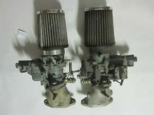Vintage Dual Genuine Weber Tipo 34 Ict Carb Set Made In Italy And Intake Filter