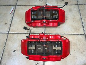 2003 2004 2005 2006 Porsche Cayenne S 4 5 Red Front Brembo Brake Calipers