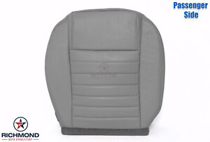 05 09 Ford Mustang Convertible V8 passenger Side Bottom Leather Seat Cover Gray