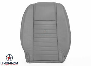 2005 2009 Ford Mustang Coupe V8 Driver Side Lean Back Leather Seat Cover Gray