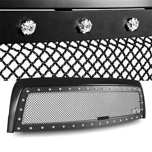 Rivet Black Wire Mesh Grille With Abs Shell Fits 2003 2006 Toyota Tundra