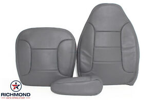 1992 93 94 96 1996 Ford Bronco Xlt Driver Side Complete Leather Seat Covers Gray