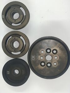 New Nascar Cv Products Water Pump Crank Accessory Serpentine Double Pulley Set