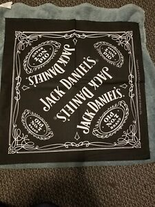 Jack Daniels Bandana Old No. 7 Black  White  21 x 21 brand new