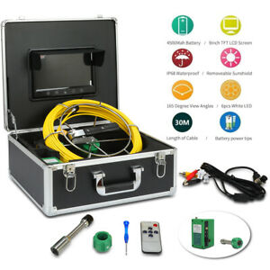 9 lcd 165 1000 Tvl Drain Pipe Sewer Inspection Video Camera System 30m Cable