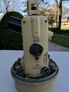 Vintage U s Navy Keuffel Esser Theodolite Surveying Directional With Case