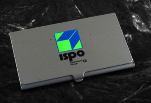 Rare Vintage Ispo Dyckerhoff Group Business Card Holder Painted Metal Case Nos