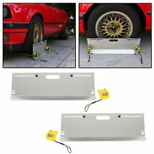 Compact 2 Wheel Alignment System Camber Caster Toe Gauge Tool Toe Plate Aluminum