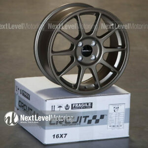 Circuit Cp23 16 7 4 100 35 Flat Bronze Wheels Type R Style Fits Honda Civic Jdm
