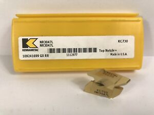 Kennametal Nr3047l New Carbide Inserts Grade Kc730 5pcs