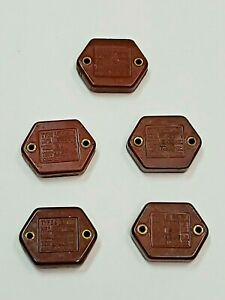 Cornell Dubilier Type 9 Capacitor Mfd 0006 0015 Vintage Variety Lot Of Five