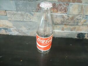 VINTAGE COCA-COLA-1970'S-PAPER LABEL-PROMO-EMPTY GLASS BOTTLE-170 ML-WITH CAP