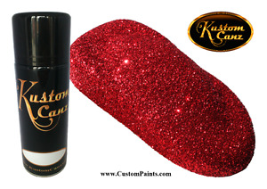 Kustom Canz 12oz Aerosol Can Flame Red Metal Flake Small 004 Hex Hok Paint
