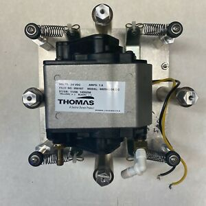 Thomas Diaphragm Compressor vacuum Pump 6025se 24vdc Mounted tested Working