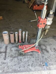 Black decker 2 Speed Core Drill With Hilti Dcm Ii Stand And 6 Bits Works Good