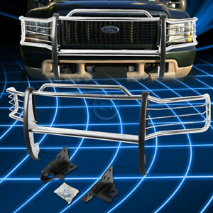 For 99 07 Ford F250 550 Superduty S S Bumper Grill Protector Grille Brush Guard