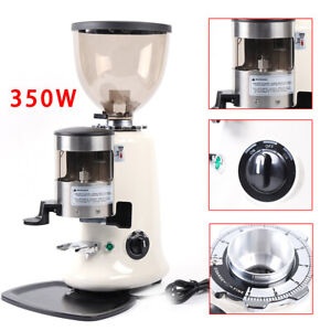 Stainless Commercial Coffee Grinder Electric Grind Semi auto Burr Mill Espresso