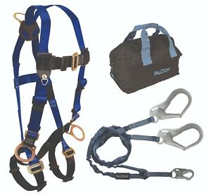 Falltech Safety Combo Harness 7017 8259y3 Lanyard W 5006mp Storage Bag 1 Ea