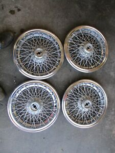 4 Oem Chevy Caprice Classic Brougham 15 Wire Spoke Hubcap Wheel Cover Pontiac