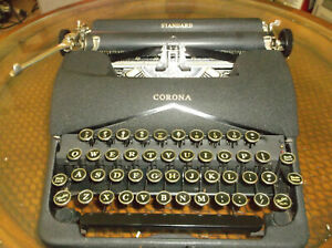 Antique Vintage 1940s Corona Standard Manual Typewriter Serviced