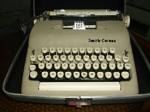 Antique Vintage 1960s Smith Corona Typewriter Serviced Tested Carrying