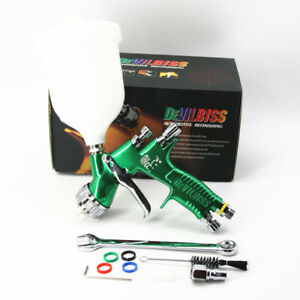 Devilbiss Gti Pro Lite 1 3mm Nozzle Lvmp Te20 Green Color Car Paint Tool New