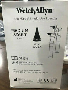Welch Allyn Kleen Spec Single Use Specula Pn 52134 Box Of 500