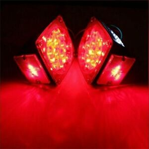 Led One Pair Rear Trailer Tail Lights Taillights Brake Stop Turn Boat Rv Camper