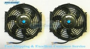 2 X 12 inch Fan Universal Electric Radiator Cooling Slim Push Pull Mounting Kit