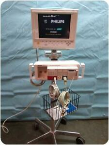 Philips V26c 24 26 M1204a m1205a Patient Monitor W Module Rack