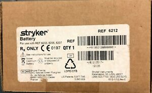 Stryker 6212 System 6 Small Battery new In Box