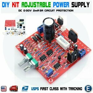 Diy Dc 0 30v 2ma 3a Adjustable Dc Regulated Power Supply Module Kit
