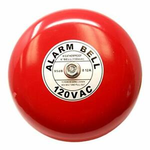Fire Alarm Bell 6 120 Vac Security Bell 120 Volt Ac