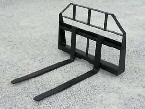 42 Long Compact Tractor Pallet Forks Attachment Fits Skid Steer Quick Attach
