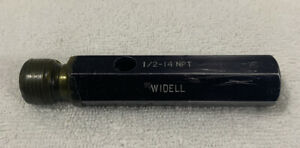 1 2 14 Npt Widell Pipe Thread Plug Gage