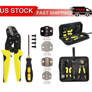 Professional Wire Striper Set Cutter Strippers Crimper Pliers Terminal Tool Kit