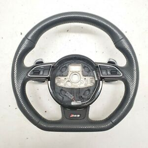2013 2016 Audi Rs5 Perforated Leather Steering Wheel W Paddle Shifters Oem
