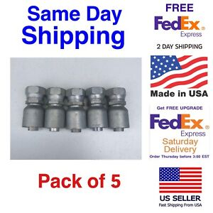 10643 14 12 Genuine Parker Hydraulic Hose Crimp On Fittings Fjx 12 14 5 Pack
