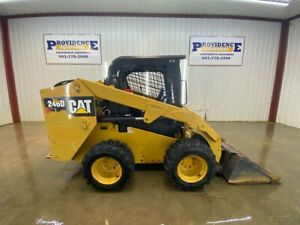 2014 Cat 246d Skid Steer Loader With Open Rops Manual Quick Attach