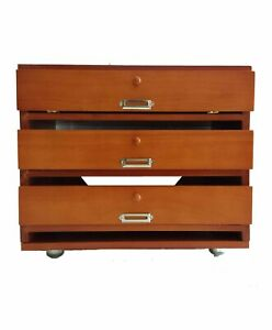 Wooden Stackable Paper file Cabinet Tray Organizer Natural