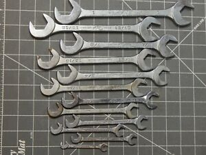 Vintage Mac 11pc 1 4 Sae 4 Way Angle Head Open End Wrench Set 3 8 1 Da Da32
