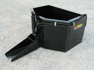 Hydraulic Concrete Bucket Attachment Fits Skid Steer Loader 5 8 Cubic Yard