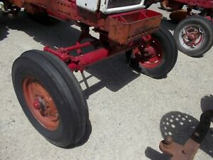Farmall 560 460 Tractor Wide Front End Widefront Frontend Hubs Rims 16 Tires