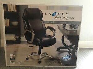 La z boy Big Tall Executive Chair W Wheels Brown Nib